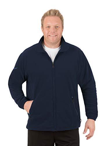 Trigema Herren Fleece Jacke Blouson, Bleu-Blau (Navy 046), XXXX-Large Homme