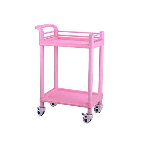 YASEking Trolley-Double Beauty Salon Kar Instrument Kar Ziekenhuis Nail Cart Tool Cart Mobile Praktisch (Maat: 73 * 53…