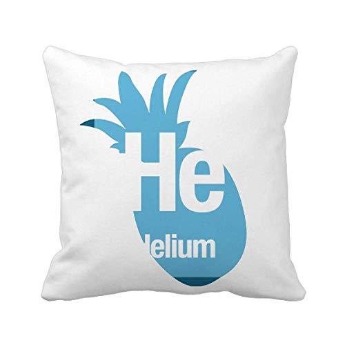 He Helium Chemical Element Science - Funda cuadrada para almohada