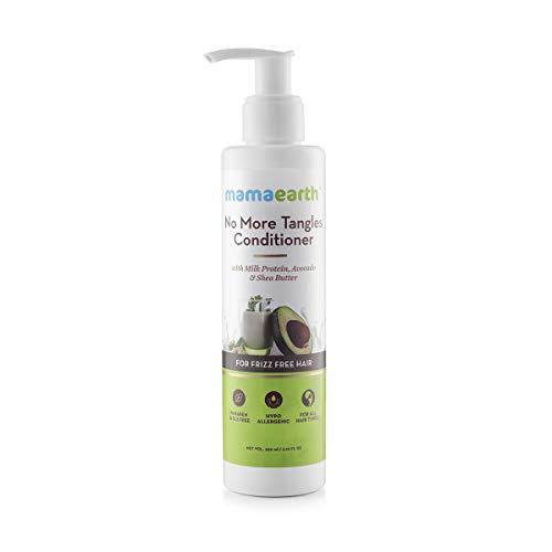 Mamaearth No More Tangles Hair Conditioner 200ml with Milk Protein, Fenugreek, Amla and Tea Tree. No Sulfates, No Silicones