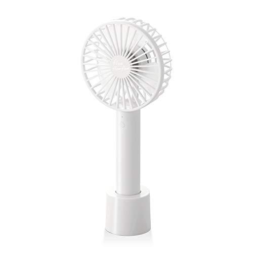 エレコム USB扇風機 大風量 ハンディ 充電用卓上スタンド付 ホワイト FAN-U205WH