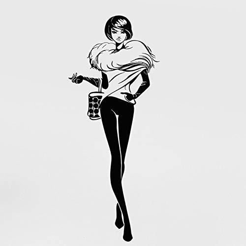 Hot Shopping Mädchen Aufkleber High Fashion Schöne Frau Mädchen Dame Boutique Fenster Vogue Aufkleber Fs42X105Cm