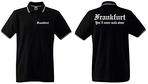 World of Shirt Frankfurt Polo-Retro Shirt Ultras Herren