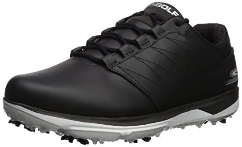 Skechers Men's Pro 4 Waterproof Golf Shoe, Black/White, 9 W US