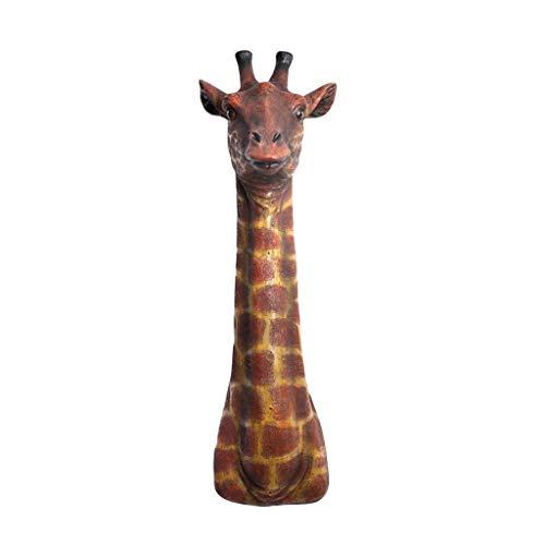 LIUBINGER Escultura Simulación Jirafa Colgante Decoración de Pared Inicio Cabeza de Ciervo Escultura Grande 23 * 80cm Manualidades
