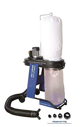 Zipper Absauganlage ASA1600HM mit Schlauch, Filtersack, Spänesack, Adapterset-4tlg