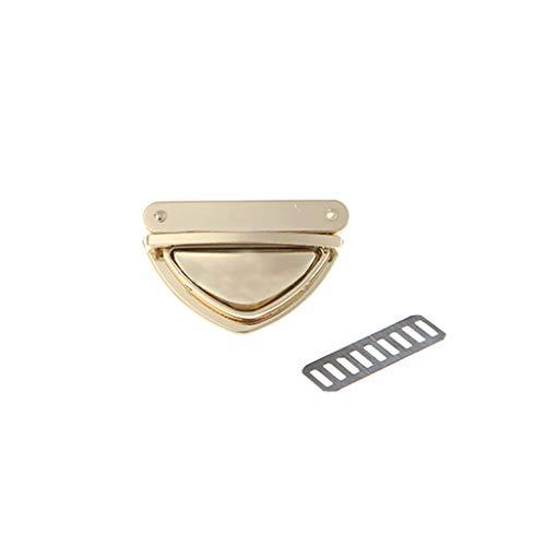 ZZALLL Triangle Shape Clasp Drehverschluss Twist Locks für Handtasche Umhängetasche Geldbörse - Gold