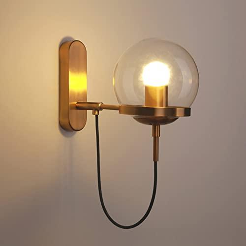 Lámpara de pared LED para loft industrial, aplique de decoración circular para interiores, lámparas de pared para dormitorio, E27, 110-220 V, iluminación moderna para el hogar, accesorio para pasillo
