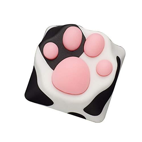juqingshanghang1 1 stück personalität weiche fühlung abs silikon Handwerker Katze Paws pad mechanische Tastatur keecaps (Color : Black)