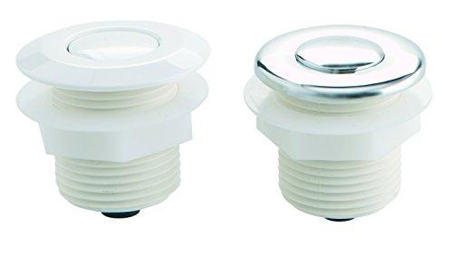 Fluidra 04113 - Pulsador neumático Frontal en plástico Blanco