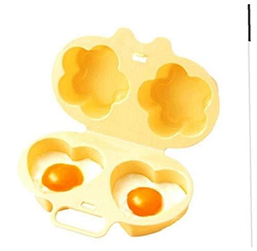 Eierkocher Mikrowelle Eierkocher Liebes-Herz-Blumen-Shaper-Form-Ei Mode Wohn Cooker Kochen Werkzeuge Gelb Eierkocher Eierkocher Design Für Eine Gesunde Tägliche Camping 1pc