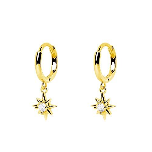SINGULARU ® - Pendientes Polar Star Oro - Joyas mujer