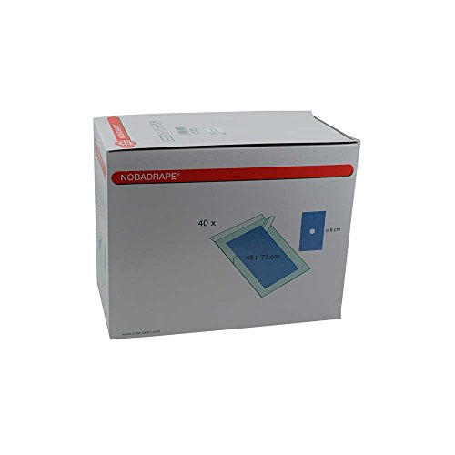 40x OBADRAPE® Lochtuch, Op-tuch, Abdecktuch, 2-lagig, blau, steril, 75x90 cm, 20 Stück