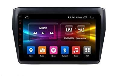 Mahendra Hardware MH 9 Inch Full HD 1080 Touch Screen Double Din Player Android 10.1 Gorilla Glass IPS Display Car Stereo with GPS/Wi-Fi/Navigation/Mirror Link Compatible for New Swift 2018 Free 8 LED Camera