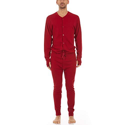 Minus33 Merino Wool 4920 Midweight Men's Union Suit True Red Large
