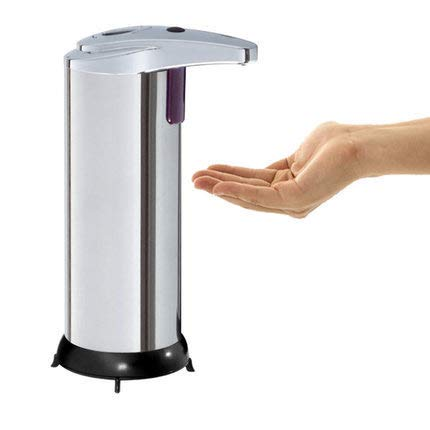 Price comparison product image SwissWell Automatic Soap Dispenser,  250 ML Stainless Steel Touchless Lotion Dispenser for Bathroom,  Kitchen,  Office,  Hotel