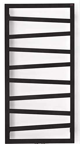 anapont elektrischer Badheizkörper ZigZag - schwarz - Timer-Funktion - Handtuchheizkörper - Badheizung elektrisch - Handtuchheizung - Made in Germany