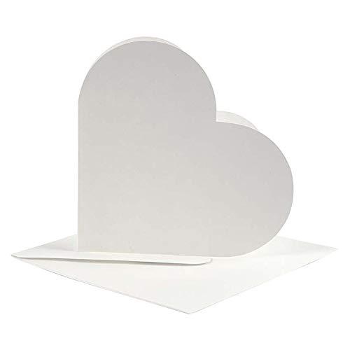 Preisvergleich Produktbild 23760 Bastelkarten,  Herzform,  cremefarben,  10 Stück
