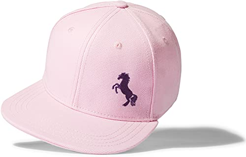 Baddery Mädchen Cap: Pferdchen - Pferde Baseball-Cap Reitmütze Pferd Pony Horse Kappe Mütze Reiten Reiterin Stall Baseballkappe Kinder-Cap Pink Rosa Reitbekleidung Reitkleidung Reitsport (One Size)