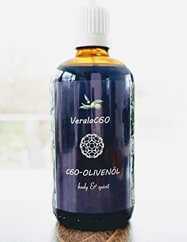 Verala C60 Olivenöl | 100ml | Carbon 60 Reinheit 99,95{8198df1e477e6a887e7a0b55b1a123b7ac2611a8b9f6895f0dcb5b162f92383e} | BIO Natives Olivenöl Extra
