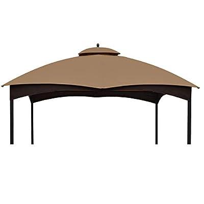 ABCCANOPY Replacement Canopy Top for Lowe's Allen Roth 10X12 Gazebo #GF-12S004B-1, Riplock 350 (Beige)