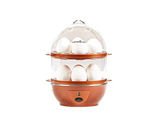 Copper Chef Want The Secret to Making Perfect Eggs & More C Electric Cooker Set-7 or 14 Capacity. Hard Boiled, Poached, Scrambled Eggs, or Omelets Automatic Shut Off, 7.5 x 6.7 x 7.5 inches, Rojo