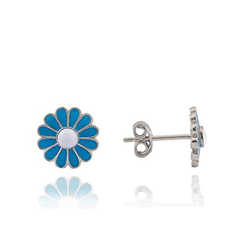 Pretty Daisy Model Earring 925 Sterling Silver   Women's Accesorry   Wedding Gift   100% Handmade