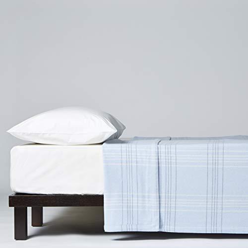 LANEROSSI Decke für französisches Bett, 210 x 180 cm, 80 % Lambswool von Merinos, 20 % Polyamid, Blau