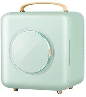 RENXR Mini Nevera De Maquillaje, Refrigerador Cosmético Portátil 9L Congelador Más Frío/Caliente Utilizado para Maquillaje Y Cuidado De La Piel Hogar, Bar, Dormitorio, Oficina,Verde