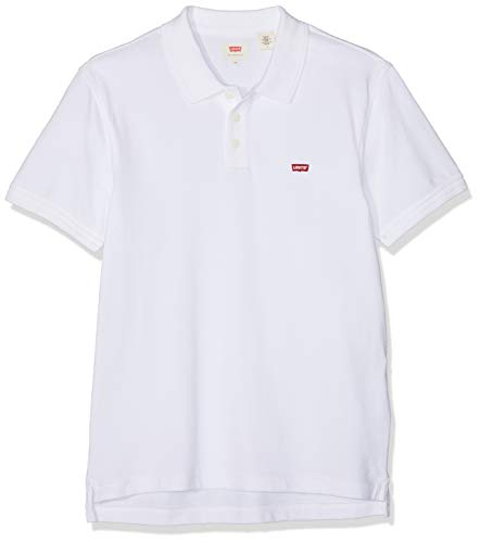 Levi's Housemark Polo, Camiseta para Hombre, Blanco (C00987 BRIGHT WHITE X 1), X-Large