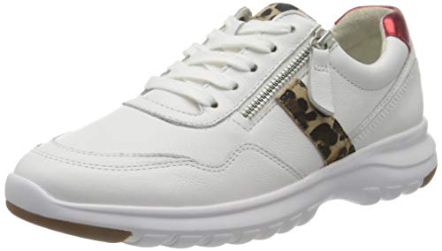 Gabor Shoes Comfort Basic, Zapatillas Mujer, Blanco (Weiss/Natur/Rossol 51), 42.5 EU