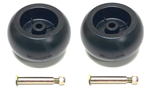 2 Deck Wheels Shoulder Bolts, Lock Nuts Replace Craftsman 133957 174873 532133957 532174873 MTD 734-03058, 753-04856 M84690