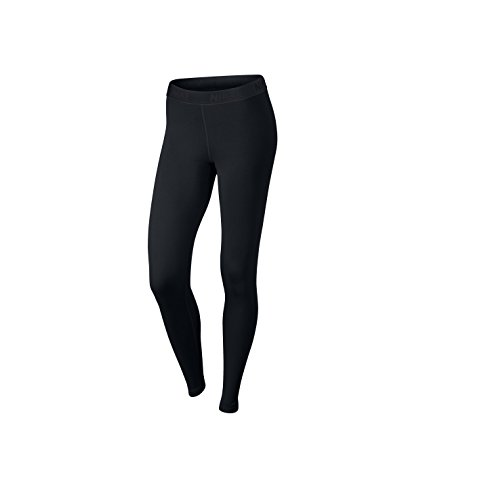 Nike Damen W NK Victory Trainings-Tights, Schwarz/Weiß, L