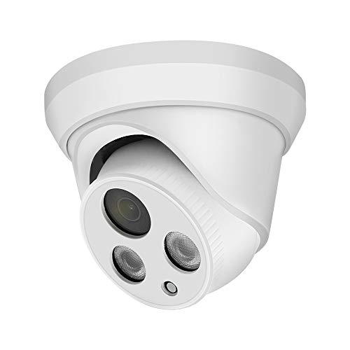 (Compatible with Hikvision) Outdoor 8MP Security PoE IP Camera,4K UltraHD Turret Camera with Built-in Mic,108° Wide Angle,2.8mm Lens,98ft IR Night Vision,IP67 Waterproof,H.265,Motion Detection