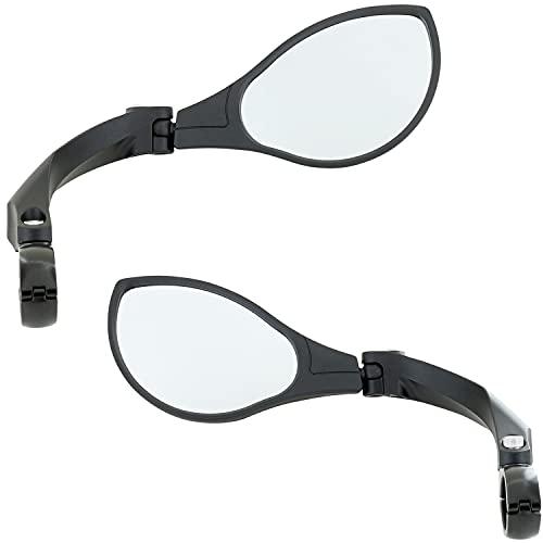 XiRRiX Fahrradspiegel für Lenker / universal Rückspiegel für Fahrrad E-Bike Rollstuhl Mountainbike / linker unnd rechter Spiegel Set für Fahrradlenker / ober und unter der Lenkstange