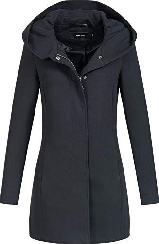 Vero Moda Vmverodona LS Jacket Noos Abrigo, Negro (Black Black), 36 (Talla del fabricante: X-Small) para Mujer