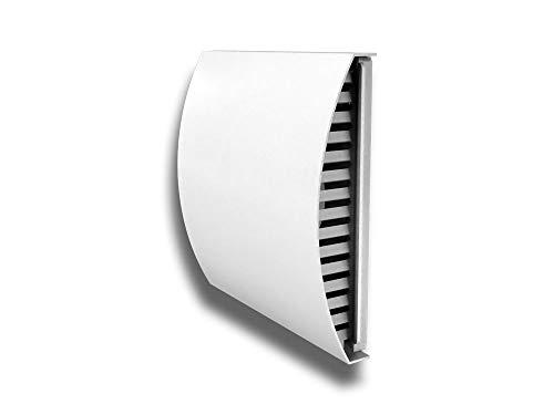Lüftungshaube Lufthaube Wetterschutzgitter Lüftungsgitter Ablufthaube ohne Flansch gedämmt Farbe weiß