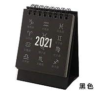 カレンダー 2021年 2021十二星座シリーズミニ卓上カレンダーDIYポータブル卓上カレンダーデイリースケジュールプランナー2020.07から2021.12 タイムプラン (Color : 1)
