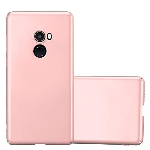 Cadorabo Funda para Xiaomi Mi Mix 2 en Metal Oro Rosa - Cubierta Protección de Plástico Duro Super Delgada e Inflexible con Antichoque - Case Cover Carcasa Protectora Ligera