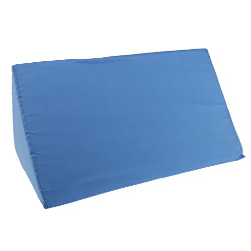 Cuscino da Gamba, Schiena, Ginocchio, Collo Bed Wedge Pillow - Blu, 20x10x5,5 pollici