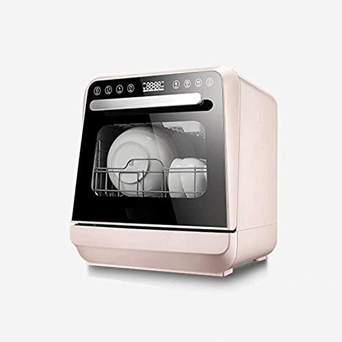 Bdesign Vollautomatische Tisch-Geschirrspüler, mit 5 l Einbau-Wassertank und Zulaufschlauch 5 Waschprogrammen Baby Care Air-Dry-Funktion und LED-Licht