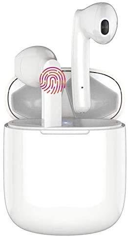 Auriculares Inalámbricos Bluetooth 5.0 Waterproof,Control Táctil, Micrófono Incorporado y Caja de Carga, Reducción de Ruido Estéreo 3D HD