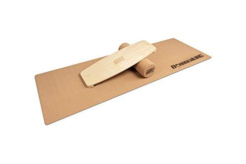 BoarderKING Indoorboard Limited Edition Wakeboard - Skateboard Surfboard Trickboard Balanceboard Balance Board (Raw Wood, 100 mm x 33 cm (Ø x L))
