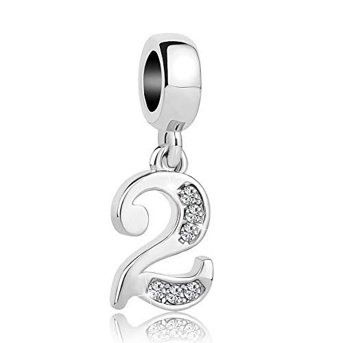 Lifequeen Jewellery Number 0-9 Charm Dangle Good Luck Lucky Charms Beads For Snake Chain Bracelets (2)