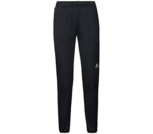 Odlo Pantaloni Zeroweight Windproof Warm Pantalon de Compression, Black, XS Femme