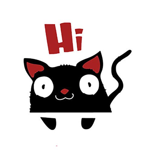 Pegatinas Pared De dibujos animados sorprendió gato interruptor HI / de la pared de la etiqueta engomada de habitación niños decoración del hogar del arte de la pared de vinilo removible decorativos a