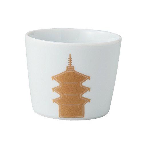 saikai Toki Japanische Keramik Hasami-Yaki Ochoko Sake-Becher Temple 14151