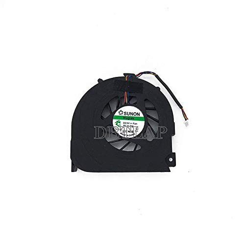 DBTLAP Ventilador de la CPU del Ordenador portátil para Packard Bell MS2273 TJ65 MG60120V1-Q000-S99 MG60090V1-q000-S99 DFS541305LHOT 4pin