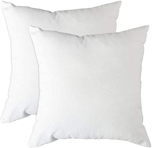 Trade Fountain Cushion Inners 40 X 40 cm - Cushion Pads 16 x 16 inches - Small Pillow Inserts - Pillow Pads For Sofa Cushions, Bedding & Couch - Decorative Cushions - White Cushion Fillers (Pack of 2)