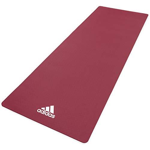 adidas, Tappetino Yoga Unisex-Adult, Rubino, 8 mm